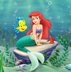 Princess Ariel – the Disney princess of the water. Living under the sea in the monarchical society of Atlantica, Ariel is the seventh-born daughter of the Ariel Disney, Princesa Ariel Da Disney, Disney Little Mermaids, Disney Art, Disney Pixar, Disney Princesses, Disney Images, Princes Ariel, Punk Disney