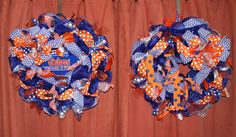 Florida Gators Double Door Wreaths. University of Florida Gators wreaths.Florida Gators Decor.Custom Professional or Collegate sport wreaths by MadyBellaDesigns on Etsy
