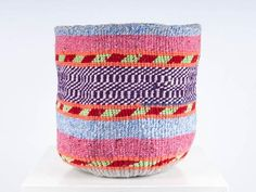 A Knifty Knit basket is nifty in more ways than one. Handwoven using recycled wool sourced from old jumpers in rural Kenya, this basket offers a beautiful solution to your storage needs!  #TheBasketRoom #baskets #weaving #wool #storage #africandesigns #fairtrade #ethicallymade #Christmasgifts #giftideas #gifts #giftsforher