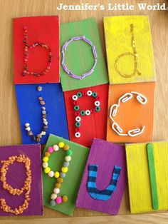 Jennifer's Little World blog - Parenting, craft and travel: Tactile alphabet cards