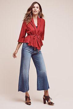 Mother Roller Wide-Leg Jeans