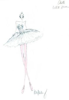 Odette the White Swan. Sketch by Kate Mulleavy.