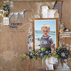 Beautiful one photo scrapbook layout