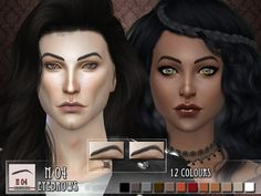 Eyebrows N03 and N04 for TS4. These were a suggestion by Supernerdylove Found in TSR Category 'Sims 4 Sets'