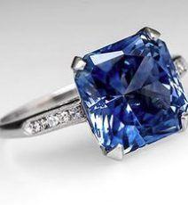 Blue, Pink, Green & Yellow Sapphire Rings, Hatton Garden, London