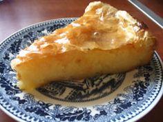 Greek custard pie...heavenly!