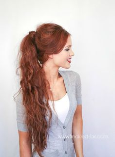 The Freckled Fox - a Hairstyle Blog: Hair Tutorial: D&G Inspired Textured Double Ponytail