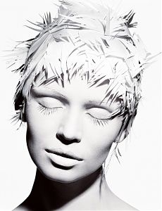 Paper Hair, Paris, Michael Thompson white on white photography Editorial Photography, White Photography, Portrait Photography, Fashion Photography, Portrait Editorial, Editorial Hair, Michael Thompson, White Makeup, Shades Of White