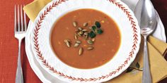 This low-calorie soup makes a perfect easy first-course for your Thanksgiving celebration.