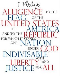 THE Pledge! Put it back in school dear LORD for good!!! We need a generation on fire for the truth in The Holy Bible!!! Please pray for America to WAKE up and be filled with the Holy Spirit!!! Be a cheerleader for Jesus every day and praise Him with song and worship!!! To Our Heavenly Father be all the glory!!! Join the CIA = Christians in Action and :) 3 <3 = Smile Jesus Loves YOU!!!
