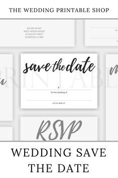Handwritten Script Wedding Save the Date Printable Stationery Design, Wedding Stationery, Wedding Printable, Wedding Prints, Wedding Save The Dates, Diy Wedding, Your Design, Script, Dating