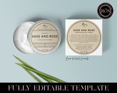 Round Labels, Label Templates, Body Lotions, Brand You, Branding, Make It Yourself, Shop, How To Make, Etsy