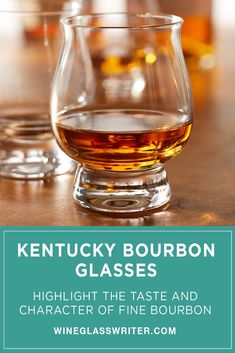 These brilliantly clear set of 4 glasses highlights the distinctive taste and character of fine Kentucky bourbon. #bourbon #kentuckybourbon #whisky #whiskey #bourbongift #holidaygift #glass #glasses Bourbon Glasses, Bourbon Gifts, Whisky, Kentucky, Wine Glass, Entertaining, Tableware, Dinnerware, Tablewares