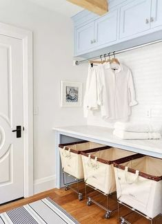 7 Small Laundry Room Design Ideas - Des Home Design Laundry Room Remodel, Laundry Room Cabinets, Laundry Room Organization, Diy Cabinets, Laundry Storage, Laundry Baskets, Rolling Laundry Basket, Laundry Closet, Laundry Rack