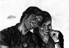 Eoin Macken and Jill Flint in The Night Shift as TC and Jordan   -black pen  #TheNightShift #TC #Jordan #TCandJordan #series #tv #tvseries #EoinMacken #JillFlint #ship #docseries