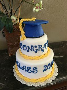 Graduado azul y amarillo
