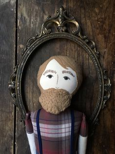 Klaus - handmade heirloom cloth doll with linen, cotton, and wool by BeardedFellas on Etsy https://www.etsy.com/listing/232996723/klaus-handmade-heirloom-cloth-doll-with
