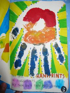 This page is for handprints, mi mano