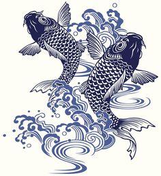 Plantillas para tatuajes del pez koi