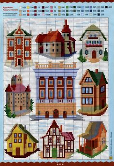 Architectural pattern / chart for cross stitch, knitting, knotting, beading, weaving, pixel art, and other crafting projects.