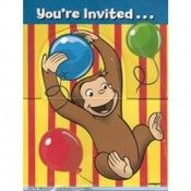 Curious George Party Invitations (8)