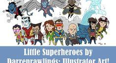 22 Cute Little Superheroes by Darrenrawlings: Illustrator Art! | HybridLava