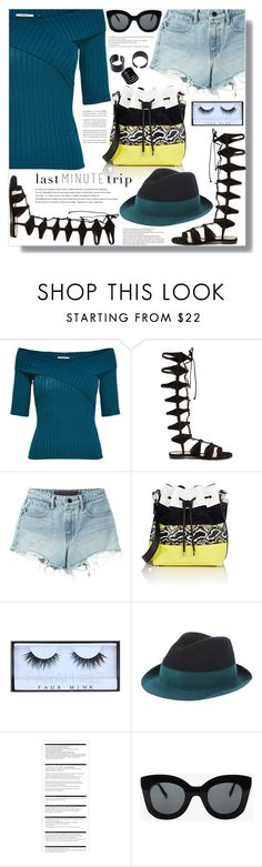 """This Ain't Nothing To Relate To."" by luna-jancek ❤ liked on Polyvore featuring Schutz, T By Alexander Wang, Proenza Schouler, Huda Beauty, Emporio Armani, Arche and CÉLINE"
