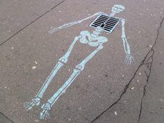 Cool Stuff in Paris | Skeleton street art, Boulevard Raspail