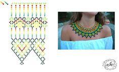 Diy Necklace Patterns, Seed Bead Patterns, Beaded Jewelry Patterns, Beading Patterns, Beading Techniques, Beading Tutorials, Beaded Collar, Bead Jewellery, Bead Weaving
