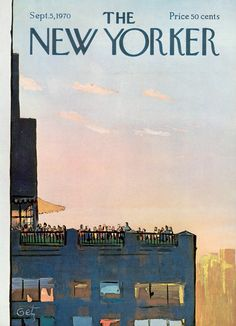 The New Yorker - Saturday, September 5, 1970 - Issue # 2377 - Vol. 46 - N° 29 - Cover by : Arthur Getz