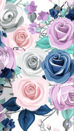 Damask Wallpaper, Cute Wallpaper Backgrounds, Wallpaper Iphone Cute, Cellphone Wallpaper, Flower Wallpaper, Pattern Wallpaper, Cute Wallpapers, Pastel Background, Flower Aesthetic