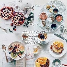 VSCO Filters for Food – VSCO FILTER HACKS White Instagram Theme, White Feed, Best Vsco Filters, Vsco Presets, Thing 1, Instagram Feed, Food Photography, Make It Yourself, Hacks