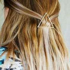 Gold Triangle Hair Clip Geometric Hair Clip Collection.  Hollow Gold Triangle Hair Clip.  Brand new in gift box. Minimalist Jewelry Co  Accessories Hair Accessories