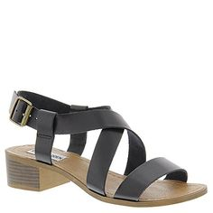 Steve Madden Womens Lorelle Heeled Sandal Black Leather 8 M US * This is an Amazon Affiliate link. Click image for more details.