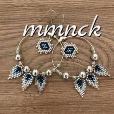 59 Ideas For Jewerly Earrings Hoops Brick Stitch Seed Bead Bracelets, Seed Bead Jewelry, Seed Bead Earrings, Heart Jewelry, Beaded Jewelry, Seed Beads, Jewellery, Bead Embroidery Jewelry, Beaded Bracelet Patterns