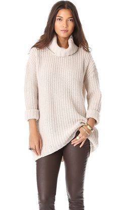 Soft Joie Alex Turtleneck Sweater {cream colored & cozy}