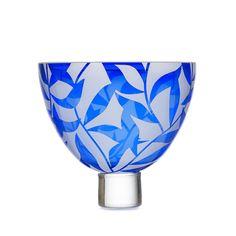 Summer Leaves Cobalt Blue