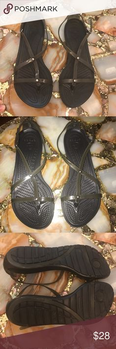 Crocs Sandals Size 8 Used once. Crocs Sandals Size 8. **No Trades**  ***Prices are negotiable, offers are welcomed***  Check out the bundle discount / I accept reasonable offers. Happy Shopping! 😊 CROCS Shoes Sandals