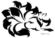Patience by RHPotter Tribal Fox, Fox Tattoo Design, Japanese Fox, Nine Tailed Fox, Fox Illustration, Pokemon, Black Silhouette, Fox Art, Tattoos Gallery