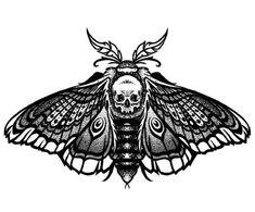 Mini Tattoos, Leg Tattoos, Body Art Tattoos, Sleeve Tattoos, Black Tattoos, Death Head Moth Tattoo, Tattoo Design Drawings, Moth Tattoo Design, Dotwork Tattoo Mandala