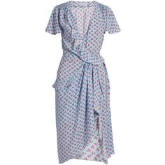 Mesilla ruffled cherry-print dress Altuzarra MATCHESFASHION.COM ❤ liked on Polyvore featuring altuzarra