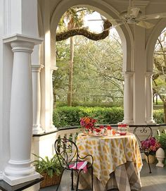 8 Southern Porches to Celebrate Summer - Southern Lady Southern Porches, Southern Ladies, Valance Curtains, Outdoor Living, Living Spaces, Elegant, Lady, Celebrities, Summer