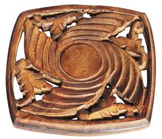 Bulk Wholesale Handmade Mango Wood Square Shaped Trivet with Intricate Floral Carving – Traditional Look Accessories for Kitchen / DiningTable