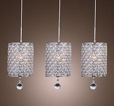 Ceiling lights artistic crystal 3 light pendant lights with glass crystal turkish pendant lamps aloadofball Choice Image