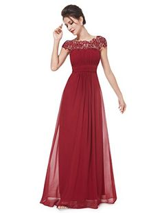 Ever Pretty Womens Lace Neckline Open Back Ruched Long Evening Gown 4 US Burgundy Ever-Pretty http://www.amazon.com/dp/B00Q4GP9G4/ref=cm_sw_r_pi_dp_92dnvb111TNH4