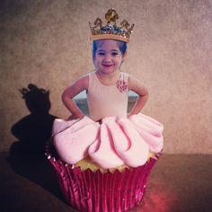 Ballerina party cupcakes