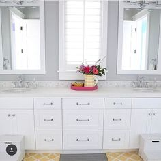 I didn't realize we needed to remodel our ensuite...until I saw my friend Erin's bathroom. @erin_sunnysideup