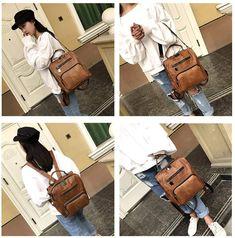 Mynos Women Backpack Purse Leather Handbag Ladies Rucksack Shoulder Bag (Brown)(Size: 9.8inchx 5.1inchx 12.2inch): Amazon.co.uk: Luggage Leather Backpack Purse, Leather Purses, Leather Handbags, Satchel, Backpacks, Shoulder Bag, Amazon, Lady, Brown