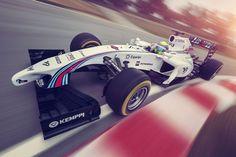 Equipe inglesa apresenta pintura e patrocinador, despontando como carro mais bonito da F-1 em 2014.