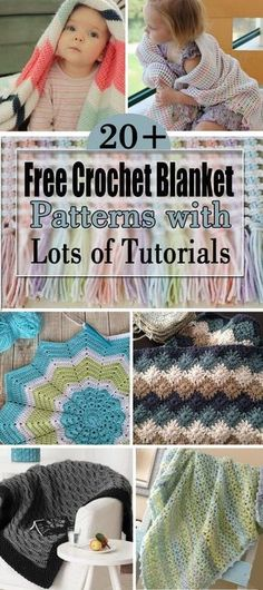 Free Crochet Blanket Patterns with Lots of Tutorials!